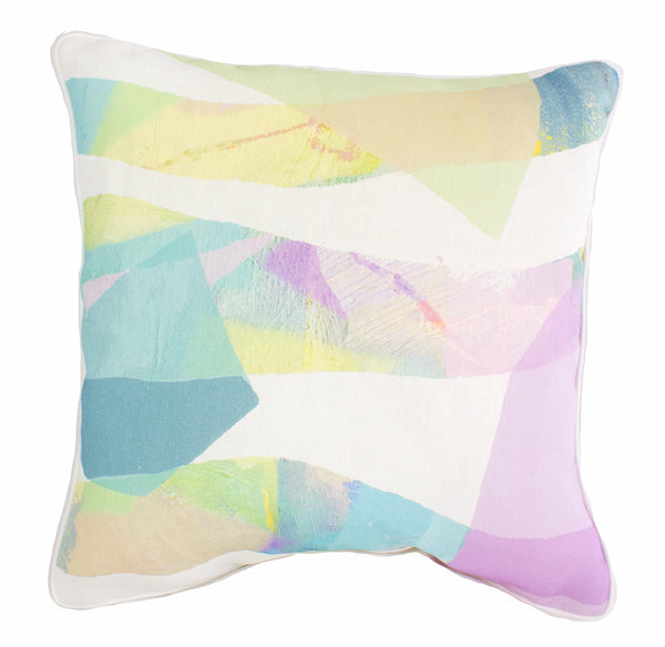 Pastel Tropical Mix 100% Linen Cushion Cover