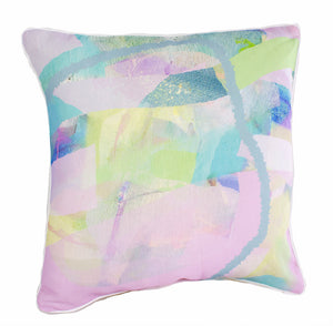 Pastel Tropical Weave 100% Linen Cushion Cover