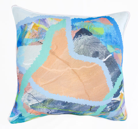 Water Woven Line 100% Linen Cushion Cover