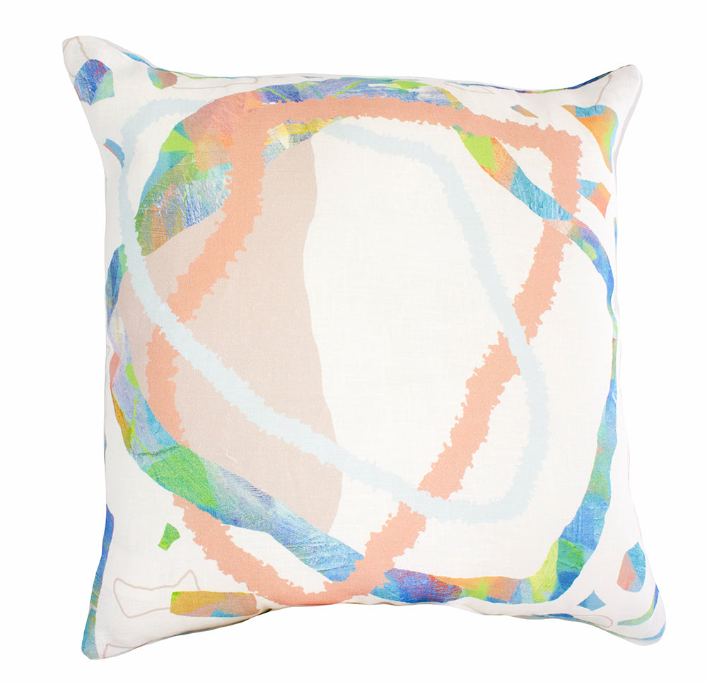 Water Mix Print 100% Linen Cushion Cover