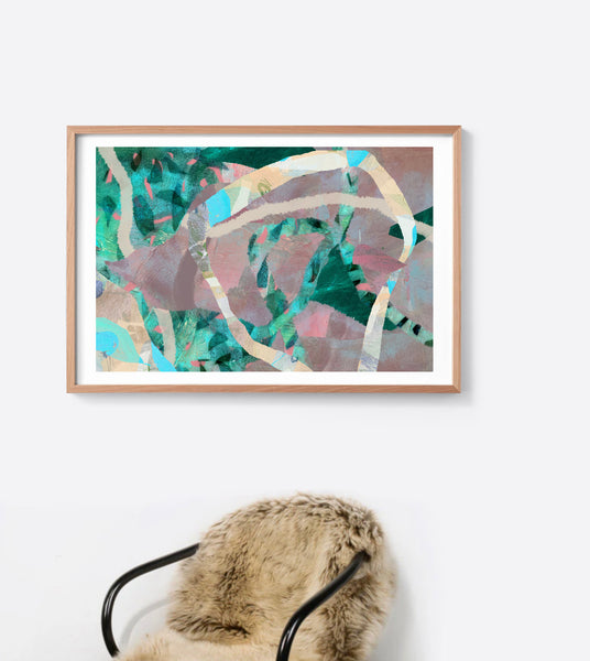 Emerald Tropical Seed Framed Print