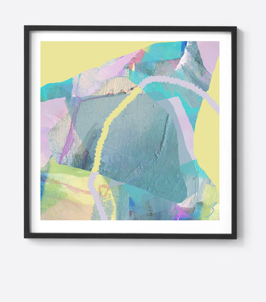 Pastel Tropical Flow Framed Print