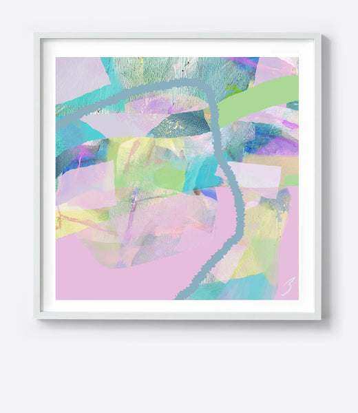 Pastel Tropical Weave Framed Print