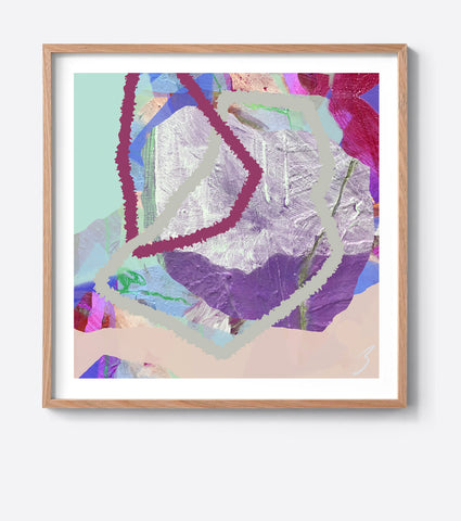 Purple Tropical Weave Framed Print