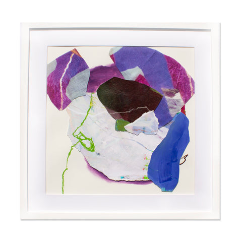 The Purple Tropical Camo print Original Collage No.2