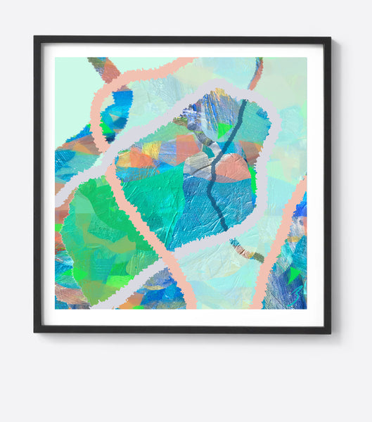 Water Tropical Weave Framed Print