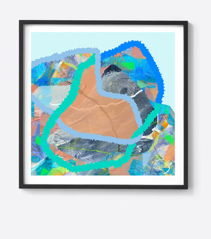 Water Woven Line Framed Print