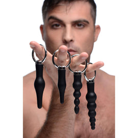 4 Piece Silicone Anal Ringed Rimmer Set