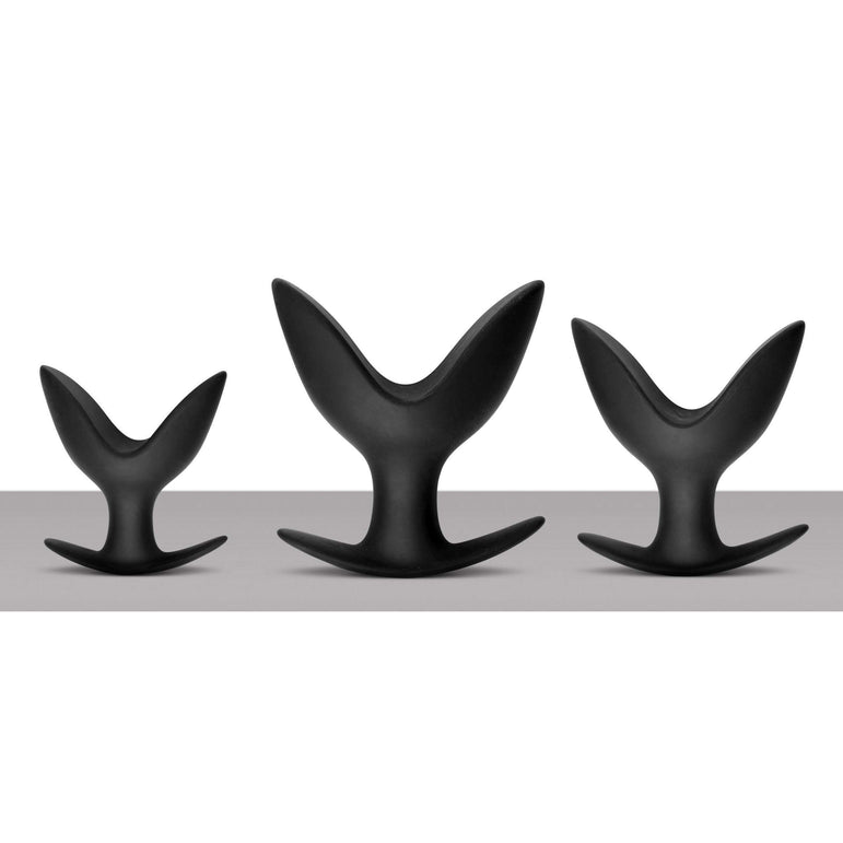 Ass Anchors 3 Piece Silicone Anal Anchor Set