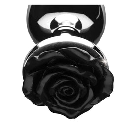 Black Rose Anal Plug- Medium