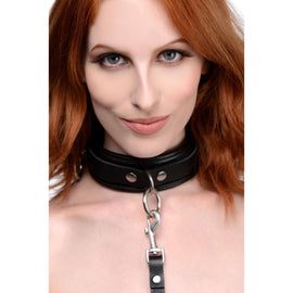 Isabella Sinclaire 3 Ring Leather Collar with Leash