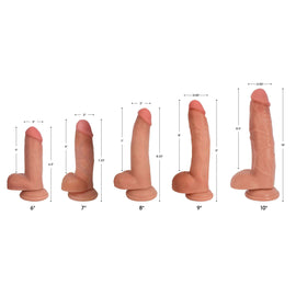 Jock Light Bareskin Dildo with Balls - 9 Inch