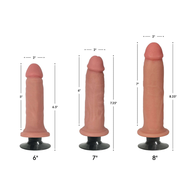 Jock Light Bareskin Vibrating Dildo - 8 Inch