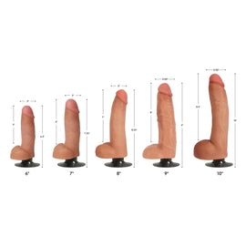 Jock Light Bareskin Vibrating Dildo with Balls - 8 Inch
