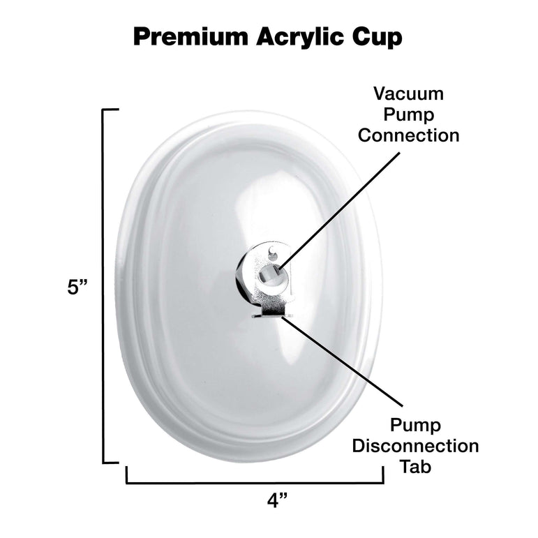 Large Vaginal 5 inch Pumping Cup Attachment