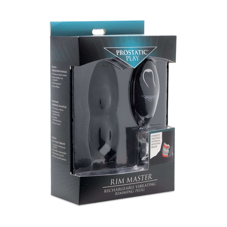 Rim Master Rechargeable Vibrating Silicone Anal Plug
