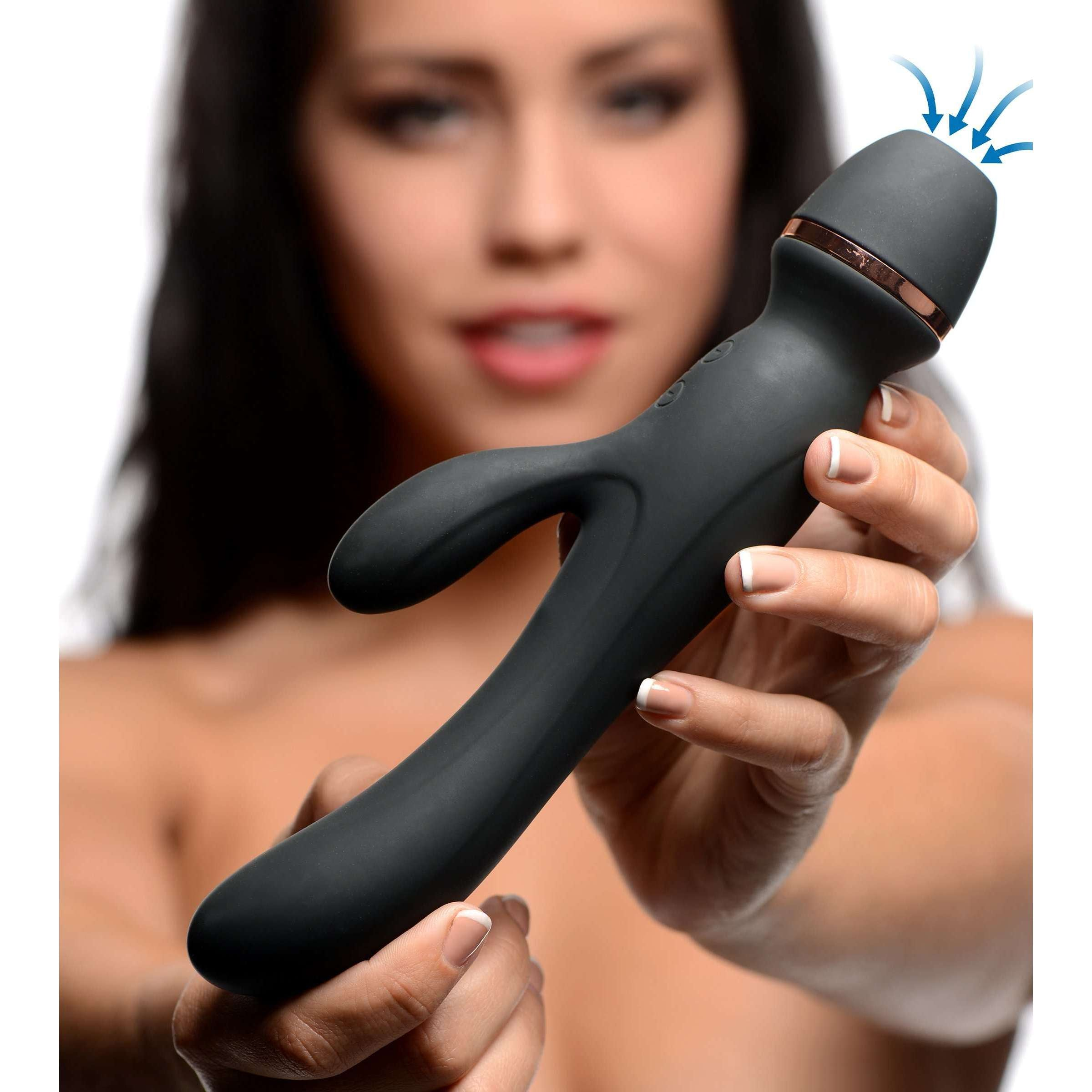 Shegasm Supreme 3 in 1 Silicone Suction Rabbit Vibe