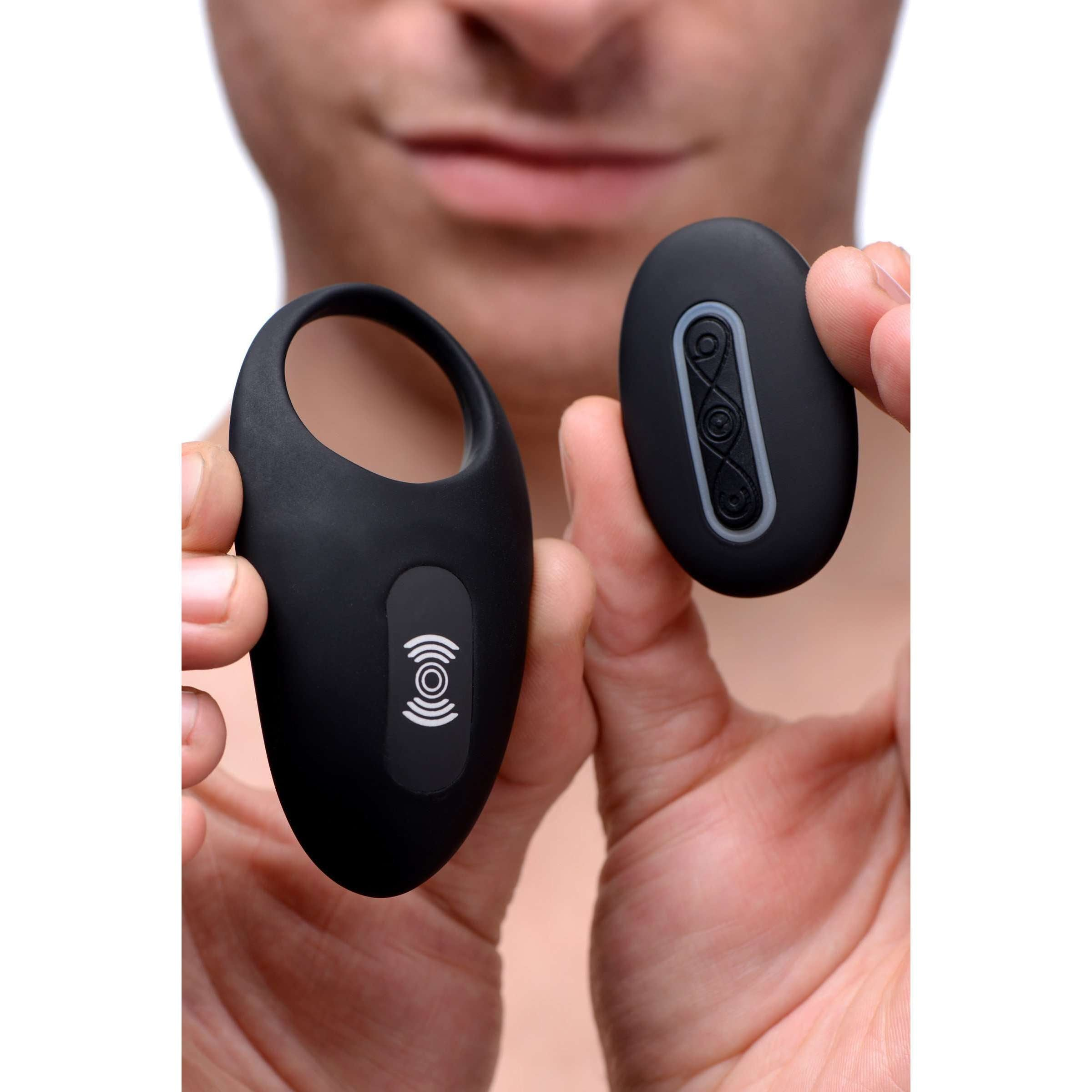 Silicone Vibrating Cock Ring with Remote Control