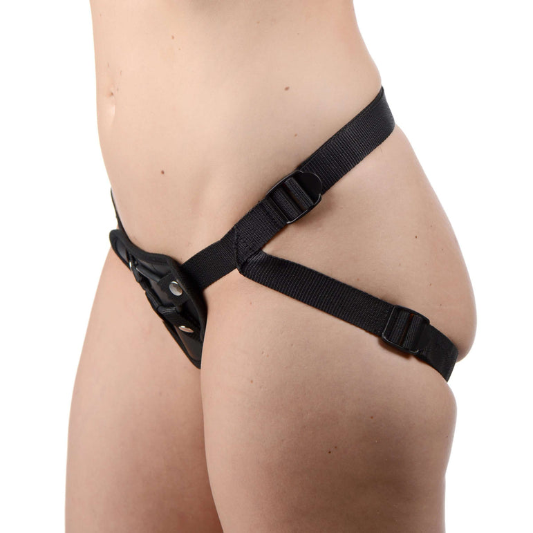 Sutra Fleece-Lined Strap On with Vibrator Pouch