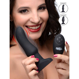 Worlds First Remote Control Inflatable 10X Vibrating Curved Silicone Anal Plug