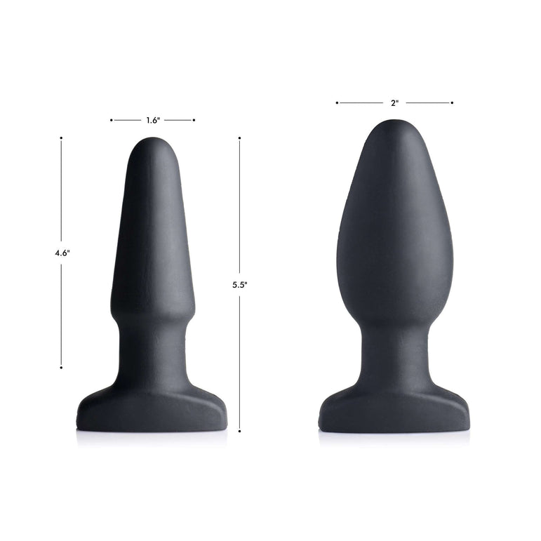 Worlds First Remote Control Inflatable 10X Vibrating Silicone Anal Plug