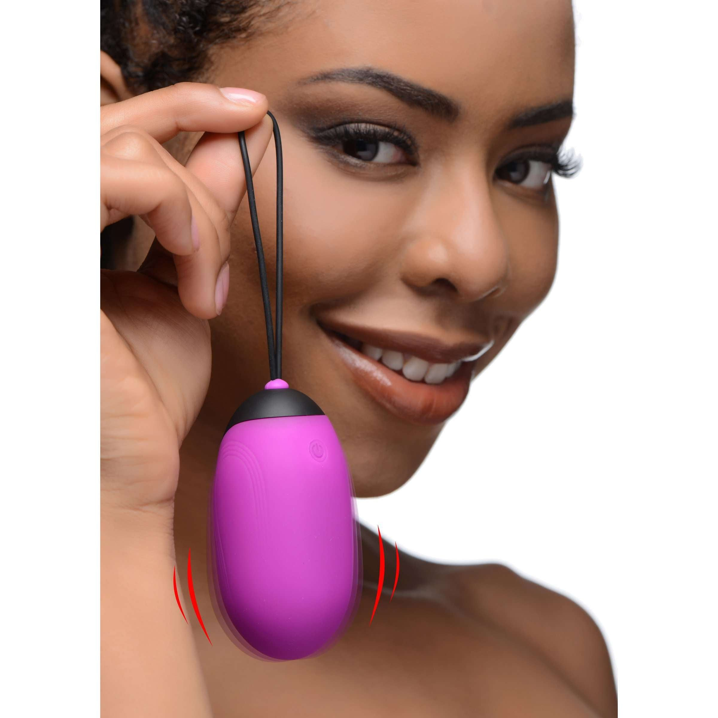 XL Silicone Vibrating Egg - Purple
