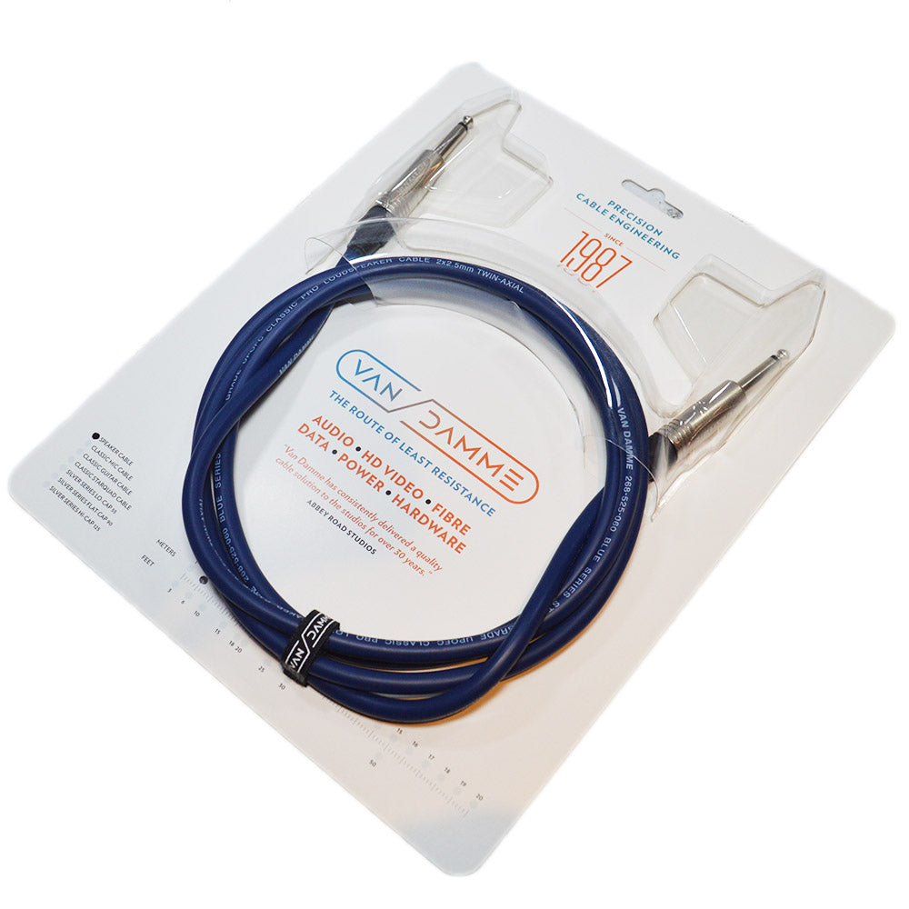 Van Damme Speaker Cable (1 m, Neutrik Straight-Straight, blue, Studio Grade)