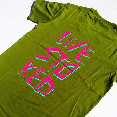 LIVE STOKED T-SHIRT - OLIVE DRAB