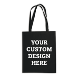100 Coloured Tote Bags With Custom White Ink Prints