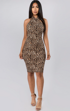 Load image into Gallery viewer, Leopard Print midi dress