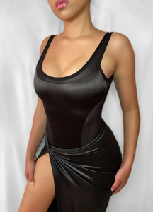 Satin/Mesh Bodysuit