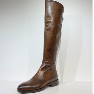 Brown Napa knee high boot (calfskin)