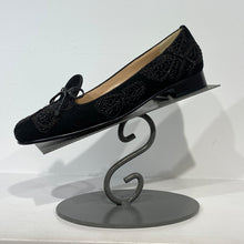 Load image into Gallery viewer, Black suede butterfly loafer