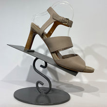 Load image into Gallery viewer, Soft taupe tumbled calf heeled sandal