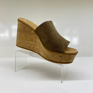 ATELIER - Rayna Taupe cork wedge Sandal