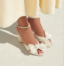 Load image into Gallery viewer, Camellia Bow Heel Shimmer