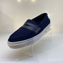 Load image into Gallery viewer, Navy Boat Shoe