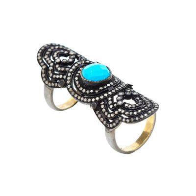 TURQUOISE ARMOUR RING
