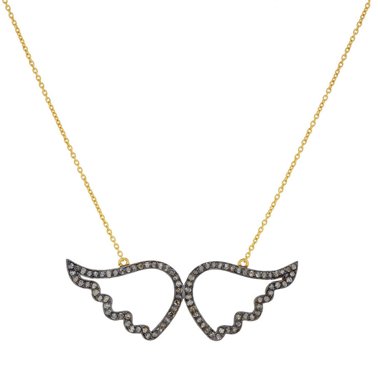 WINGS NECKLACE ON GOLD PLATED CHAIN.  BACK IN STOCK !