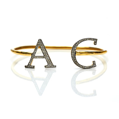 BESPOKE LARGE INITIAL BANGLE