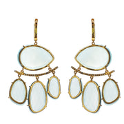 BLUE CHALCEDONY AND DIAMOND BOHEMIAN LUX EARRINGS