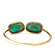 EMERALD AND GOLD BANGLE. 💥SALE 35%
