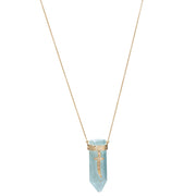AQUAMARINE CRYSTAL SHARD PENDANT