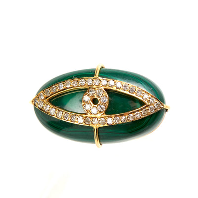 MALACHITE EVIL-EYE RING