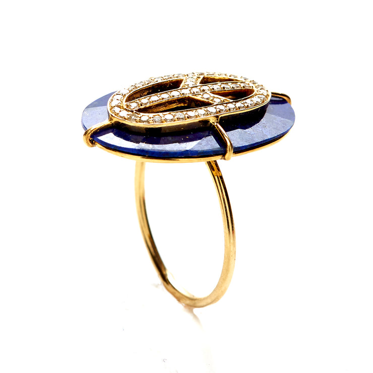 LAPIS PEACE RING