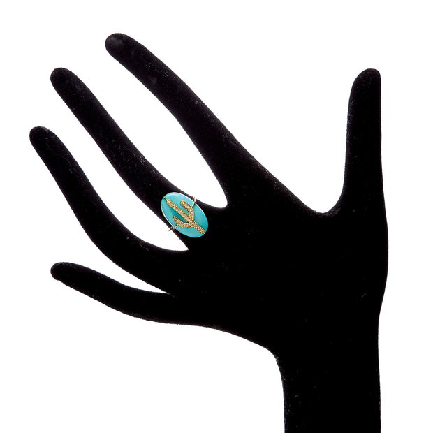 TURQUOISE CACTUS RING.  Out of stock .