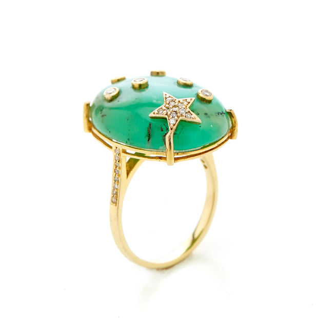 CHRYSOPRASE GALAXY RING