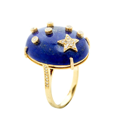 LAPIS GALAXY RING. Out of stock. To re-order 2-3 weeks lead time .