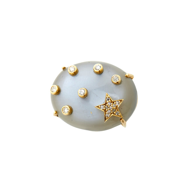 MOONSTONE GALAXY RING. Out of stock .