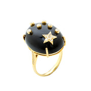 BLACK ONYX GALAXY RING